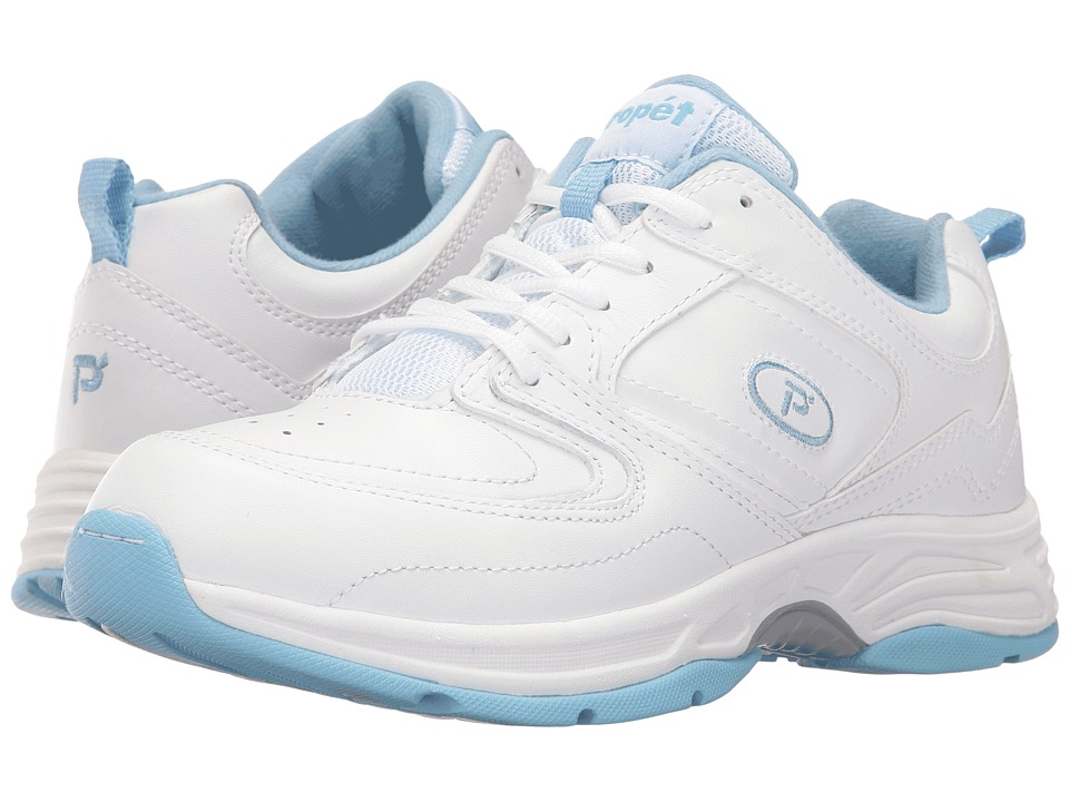 Propet - Eden (White/Powder Blue) Women's Shoes