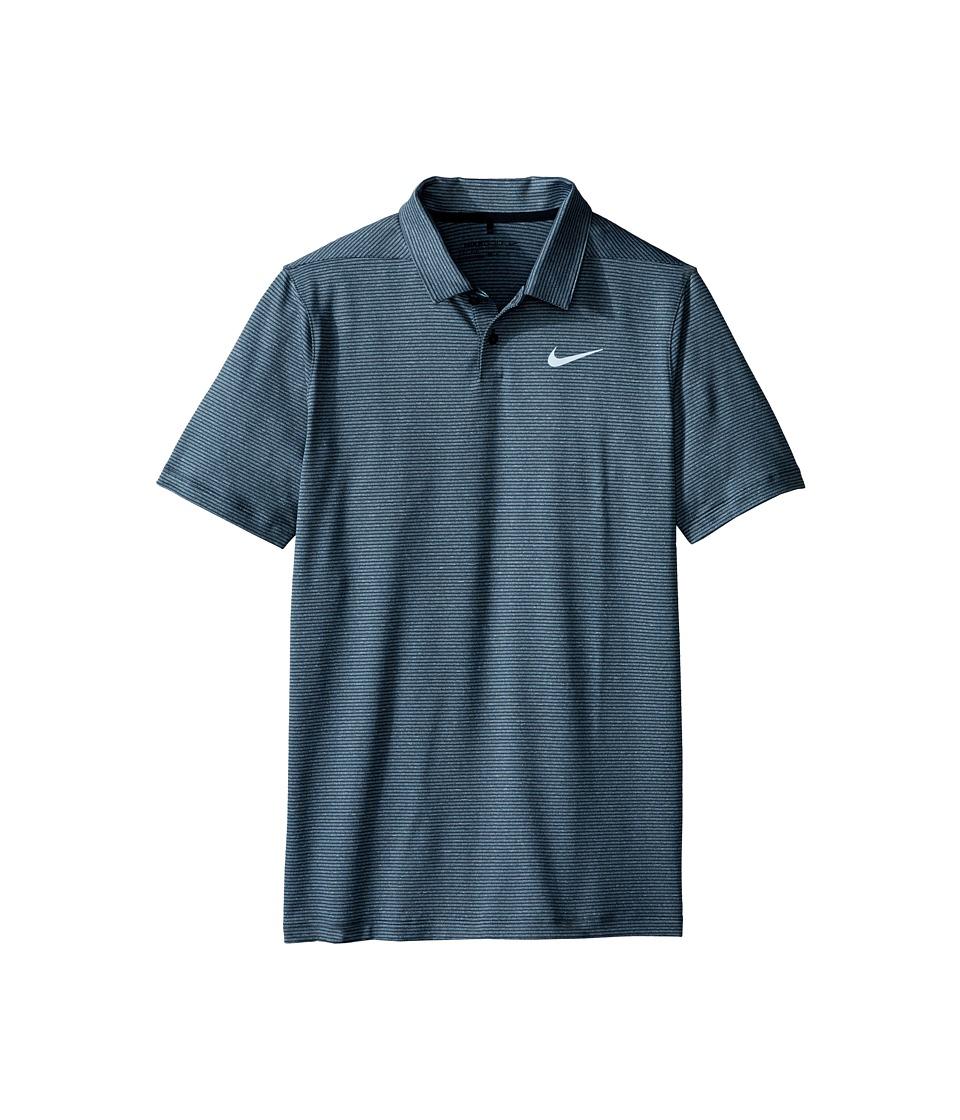Nike Kids - TW Control Stripe Polo (Little Kids/Big Kids) (Anthracite/Black/Reflective Silver) Boy's Short Sleeve Pullover