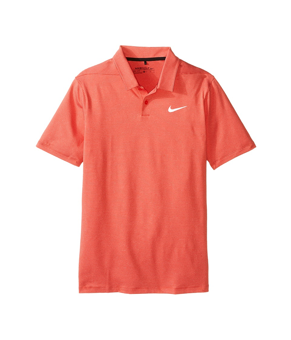 Nike Kids - TW Control Stripe Polo (Little Kids/Big Kids) (Light Crimson/Gym Red/Reflective Black) Boy's Short Sleeve Pullover