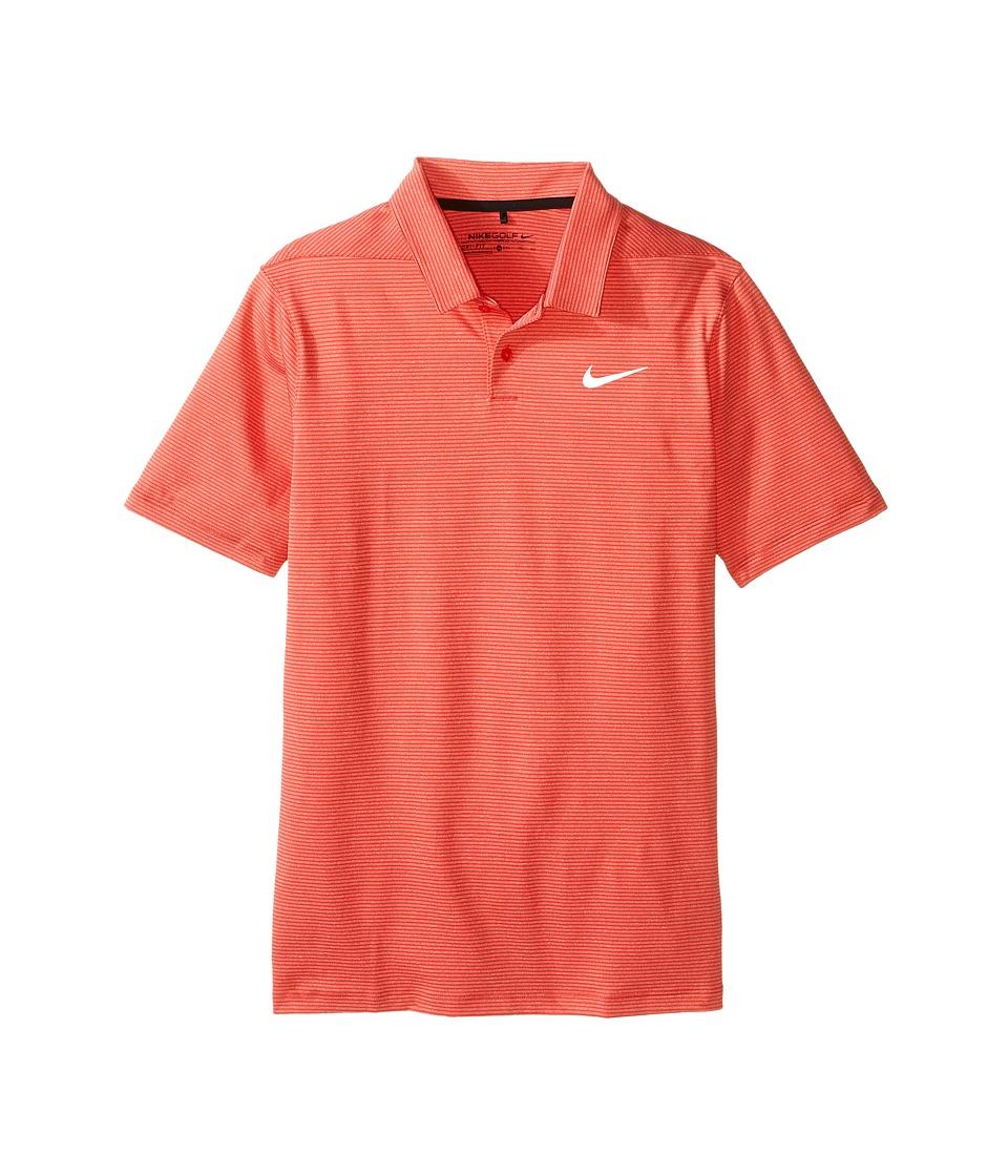 Nike Kids - TW Control Stripe Polo (Little Kids/Big Kids) (Light Crimson/Gym Red/Reflective Black) Boy's Short Sleeve Pullover
