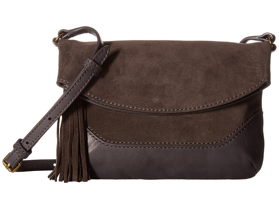 Frye - Paige Small Crossbody (Smoke) Top-handle Handbags