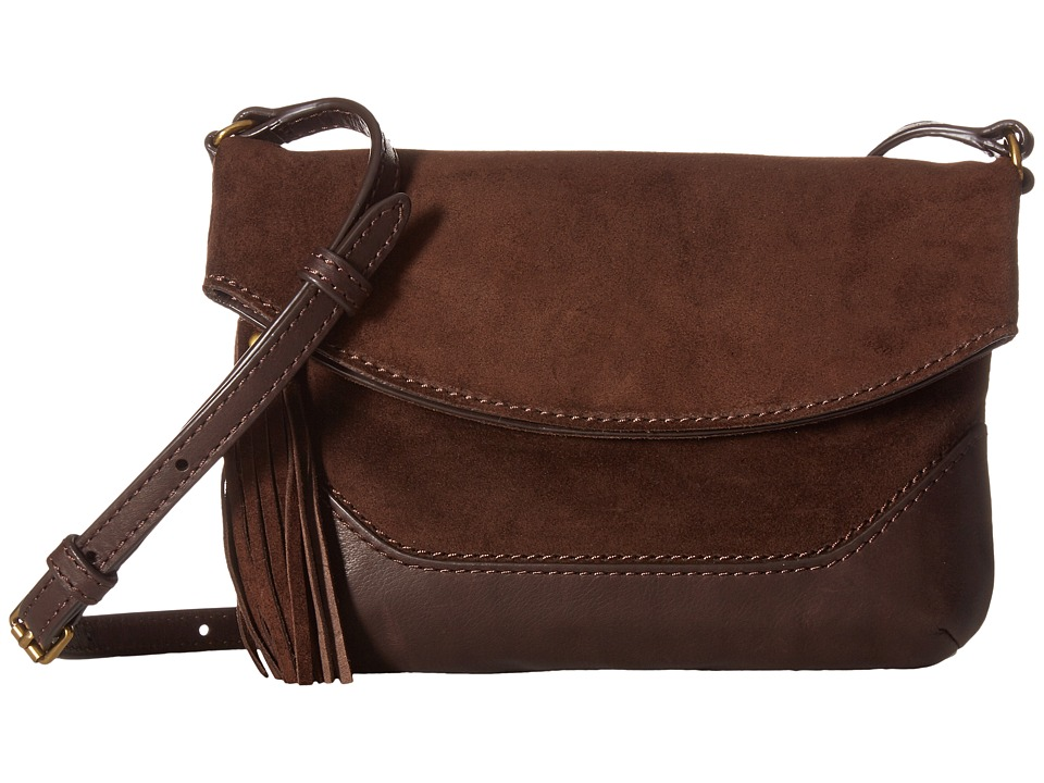 Frye - Paige Small Crossbody (Dark Brown 1) Top-handle Handbags