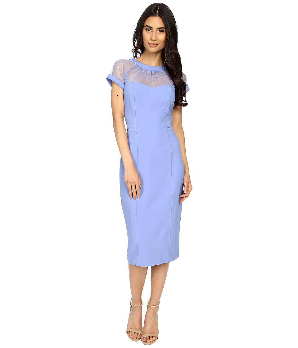 Maggy London - Illusion Top Crepe Dress (Periwinkle) Women's Dress