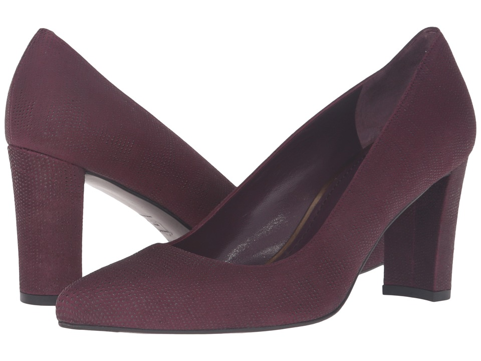 Stuart Weitzman - Tessadap (Bordeaux Goose Bump Nappa) High Heels