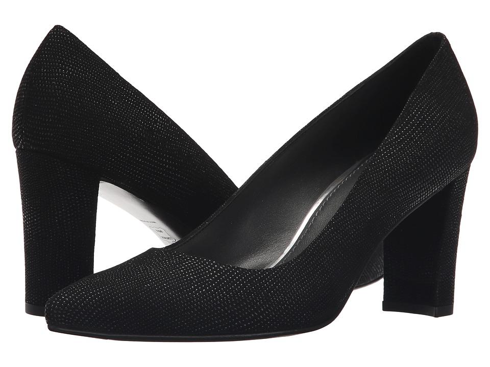 Stuart Weitzman - Tessadap (Black Goose Bump Nappa) High Heels