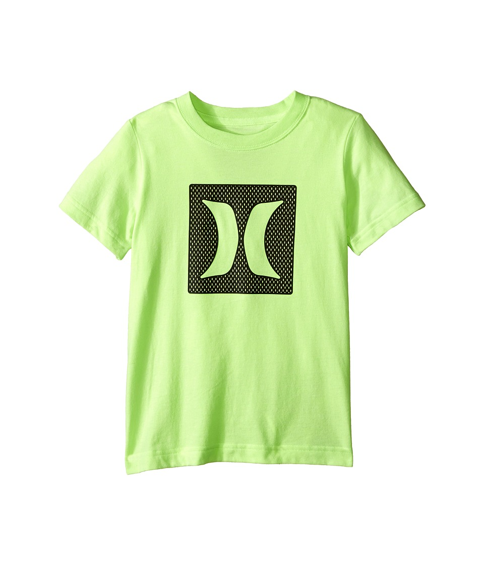 Hurley Kids - Logo Mesh Short Sleeve Tee (Little Kids) (Ghost Green Heather) Boy's Short Sleeve Pullover