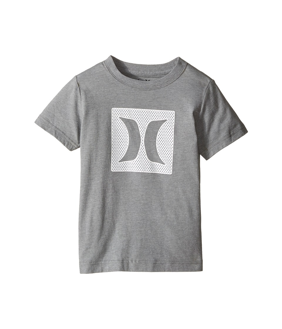 Hurley Kids - Logo Mesh Short Sleeve Tee (Little Kids) (Dark Grey Heather) Boy's Short Sleeve Pullover