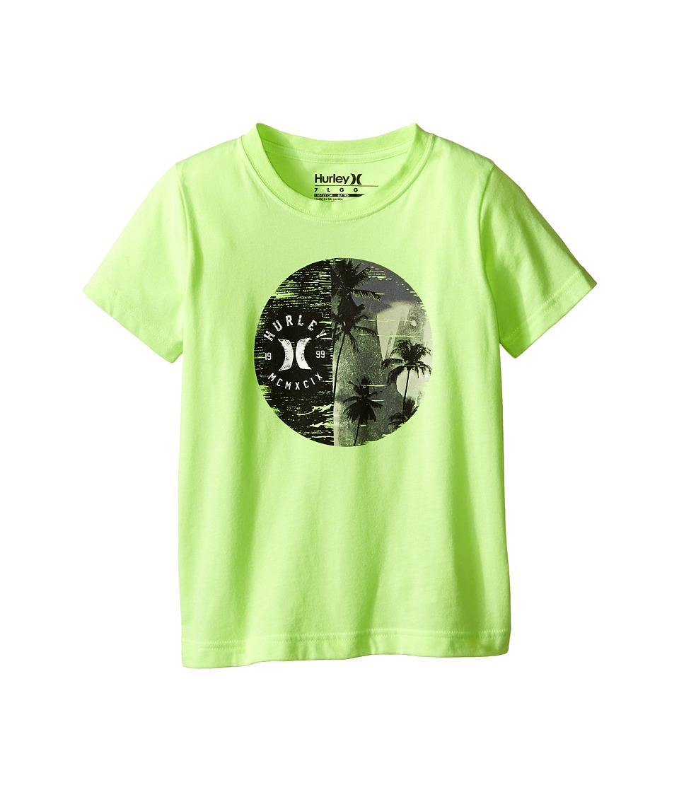Hurley Kids - The Dreams Short Sleeve Tee (Little Kids) (Ghost Green Heather) Boy's Short Sleeve Pullover