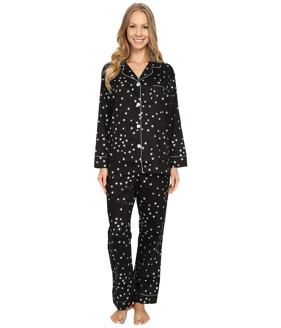 BedHead - Long Sleeve Classic Pajama Set with Metallic Foil (Black Big Dipper) Women's Pajama Sets