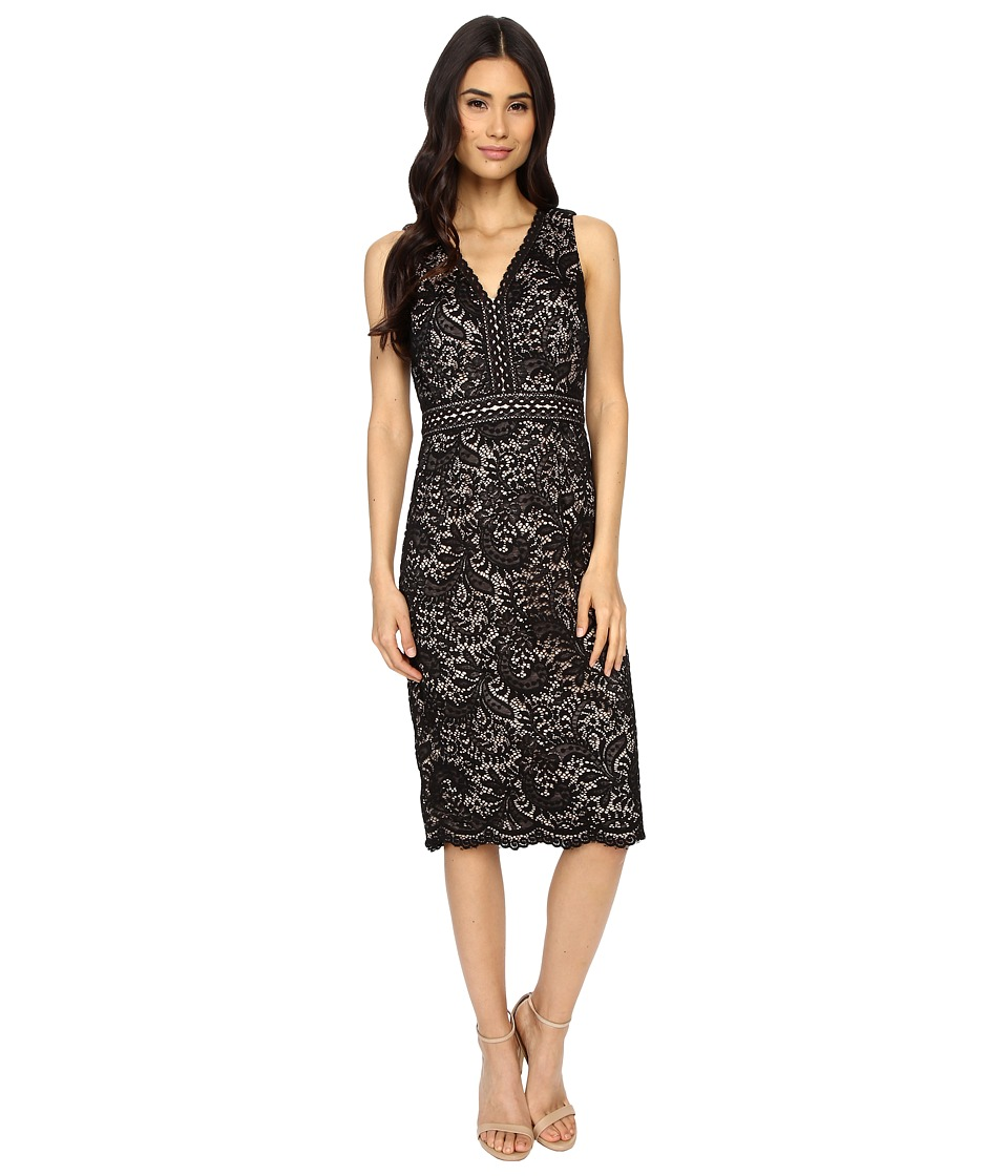 Maggy London - Spanish Scroll Lace Sheath Dress (Black) Women's Dress