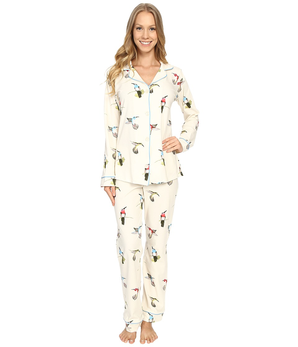 BedHead - Classic Stretch PJ Set (Humming Birds) Women's Pajama Sets