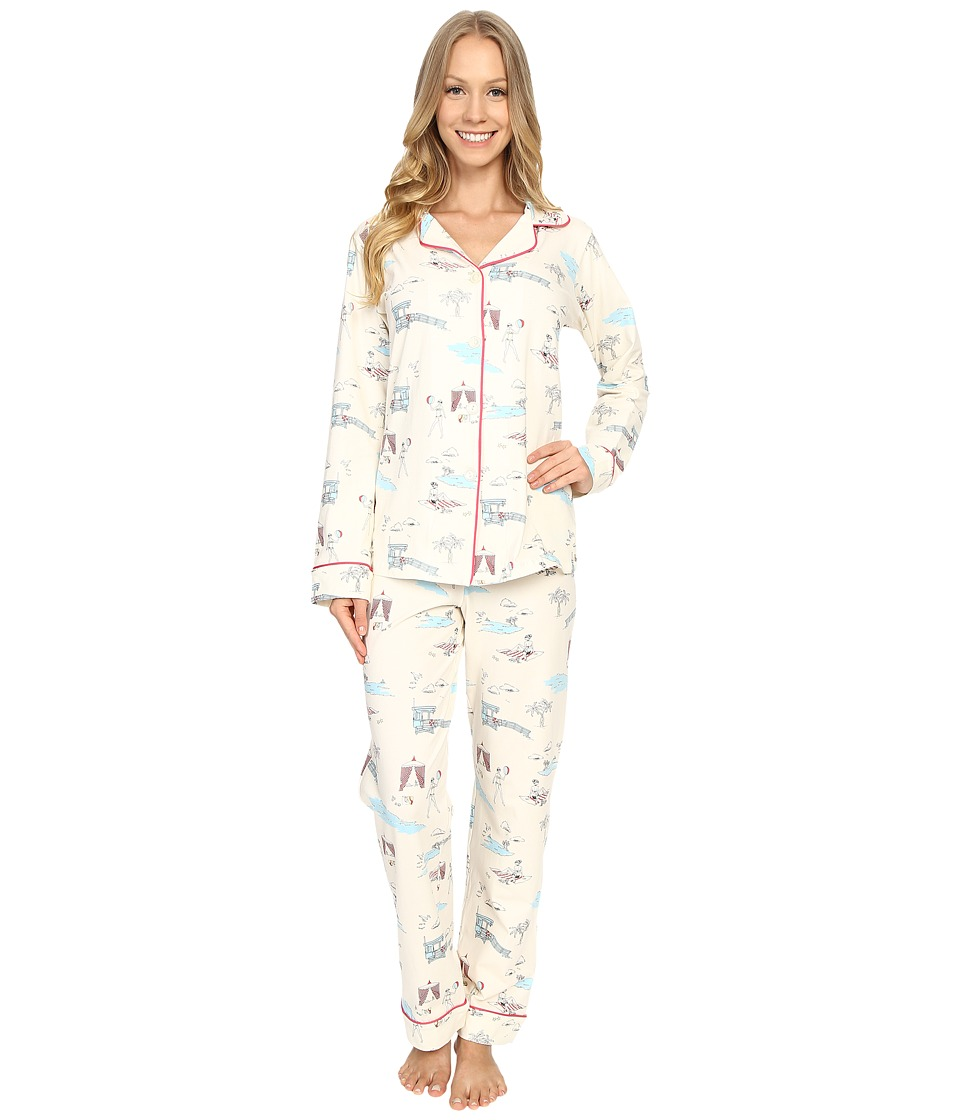 BedHead - Classic Stretch PJ Set (Girl On The Beach) Women's Pajama Sets