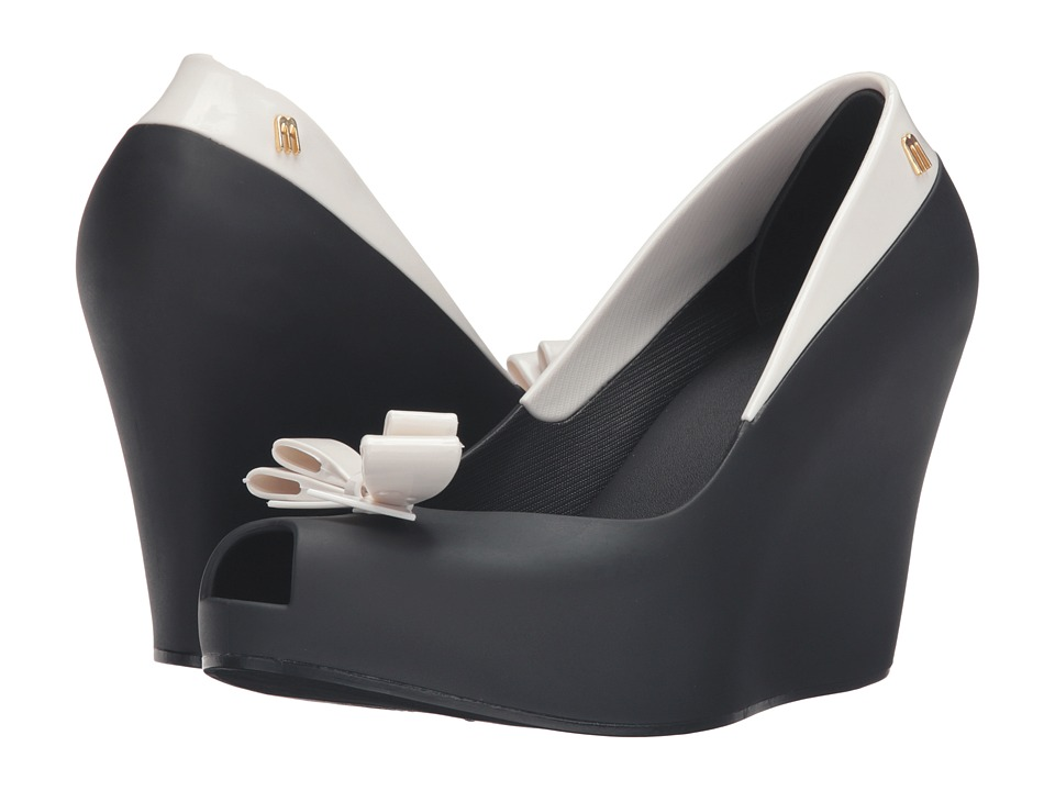 Melissa Shoes - Queen Wedge (Black) Women's Wedge Shoes