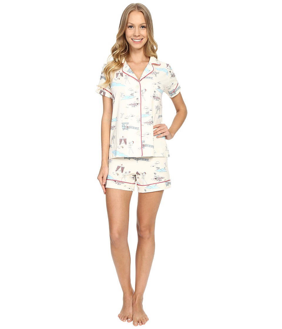 BedHead - Shorty PJ Stretch (Girl On The Beach) Women's Pajama Sets