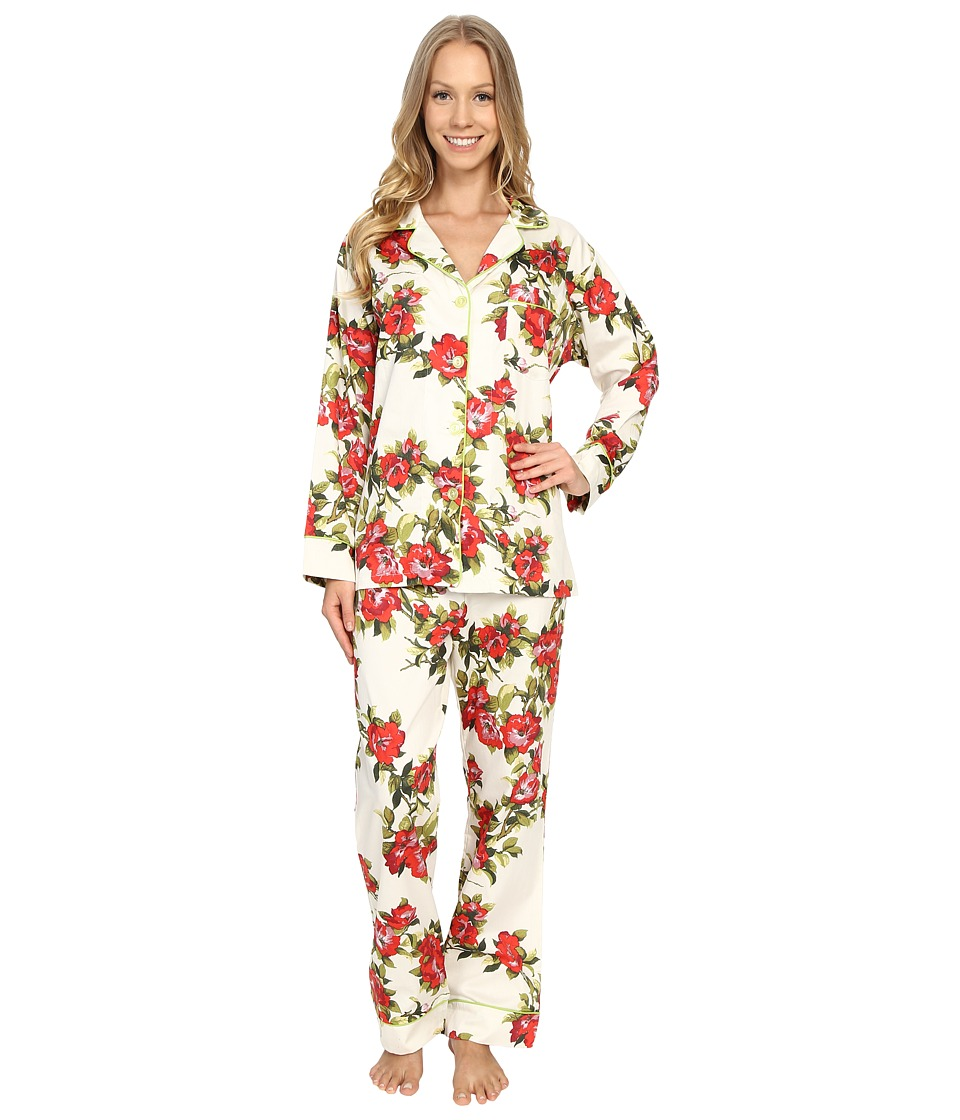 BedHead - Classic Pajamas Voile (Coral Hibiscus) Women's Pajama Sets