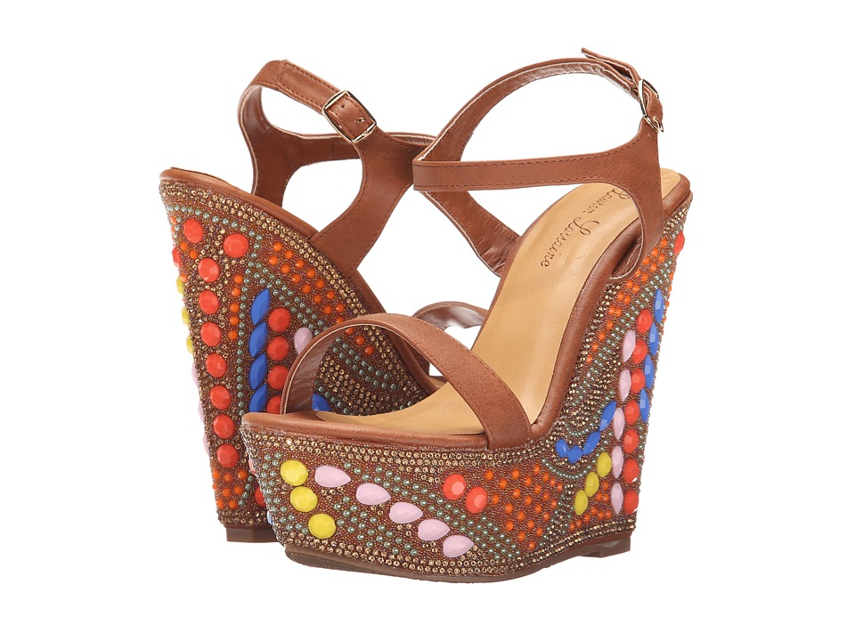 Lauren Lorraine - Paris (Brown Multi) Women's Wedge Shoes