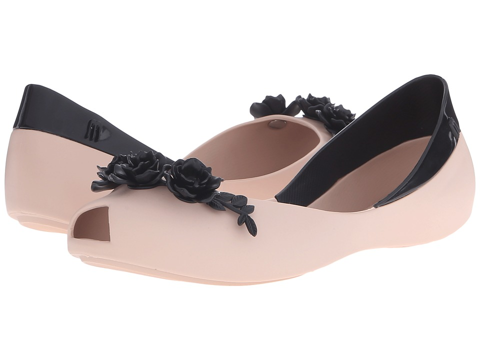 Melissa Shoes - AH + FLOWER QUEEN (Beige/Black) Women's Shoes