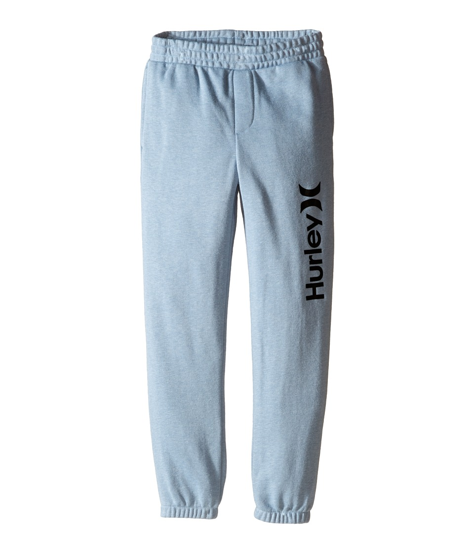 Hurley Kids - One Only French Jogger Pants (Little Kids) (Blue/Gray Heather) Boy's Casual Pants