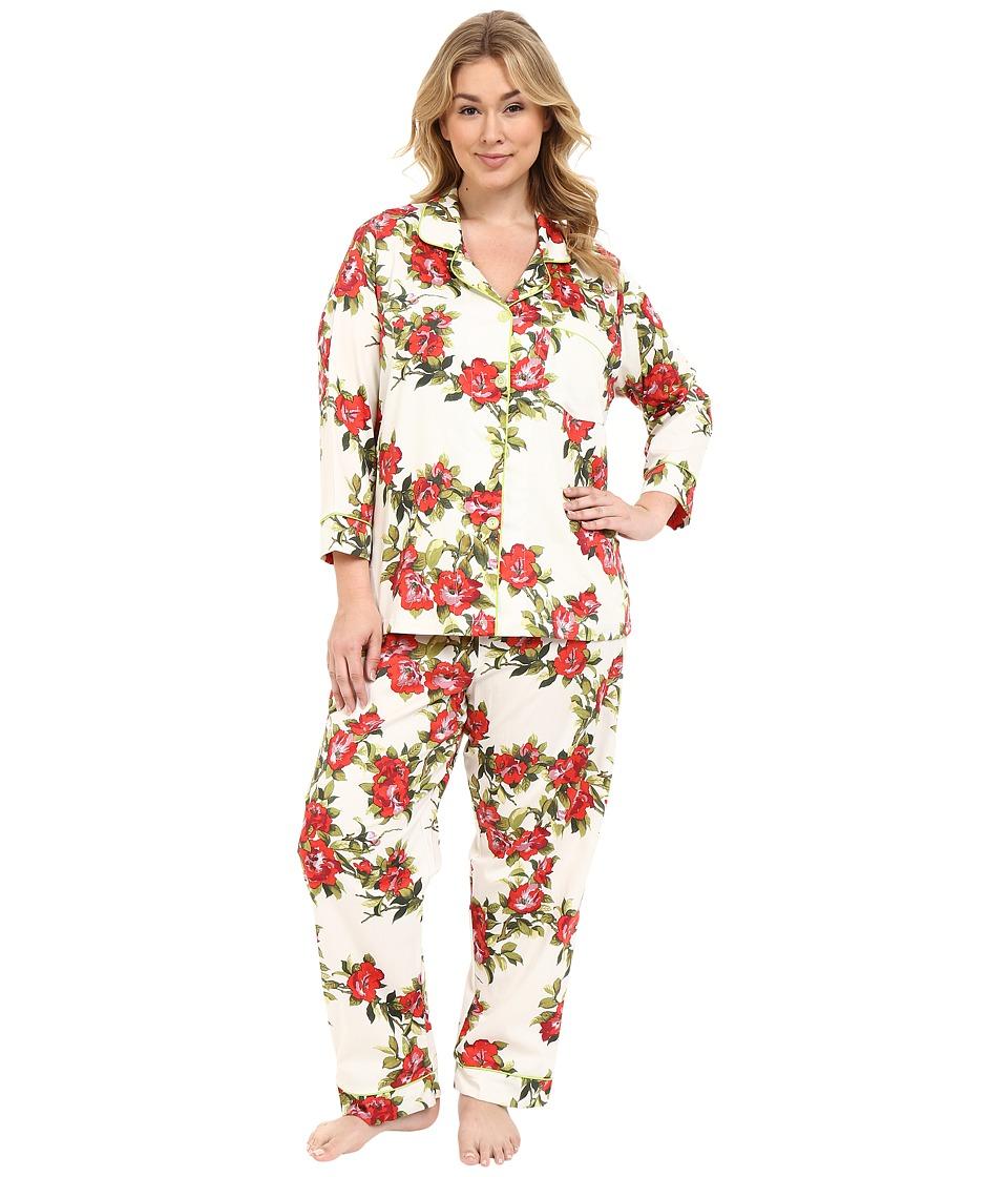BedHead - Classic Voile PJ's Plus Size (Coral Hibiscus) Women's Pajama Sets plus size,  plus size fashion plus size appare