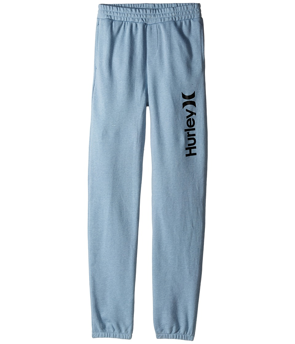 Hurley Kids - One Only French Jogger Pants (Big Kids) (Blue/Gray Heather) Boy's Casual Pants
