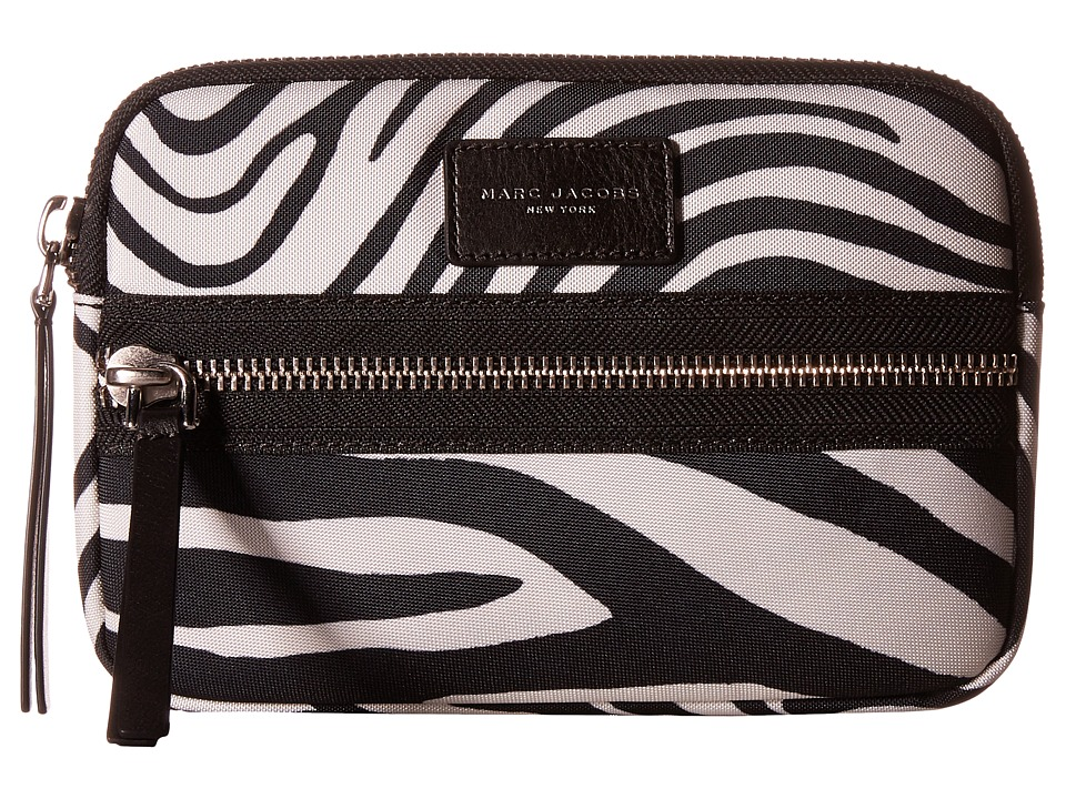 Marc Jacobs - Zebra Printed Biker Tech Mini Tablet Case (Off-White Multi) Wallet