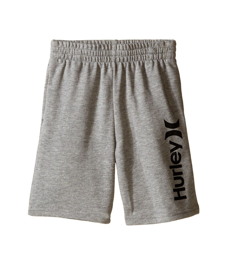 Hurley Kids - One Only French Shorts (Little Kids) (Dark Grey Heather) Boy's Shorts