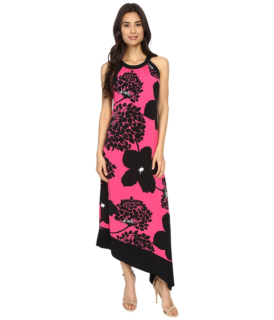 London Times - Jersey Dress (Pink/Black) Women's Dress
