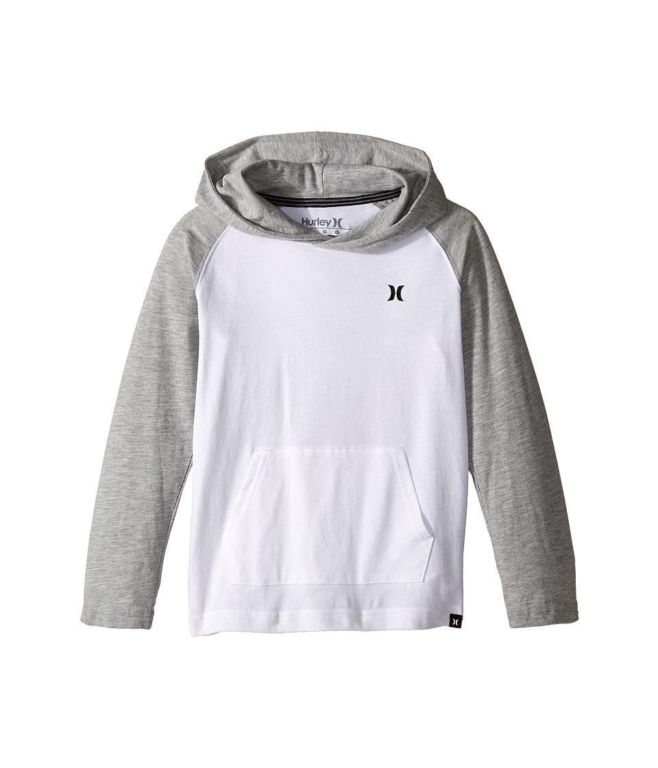 Hurley Kids - Icon Pullover (Little Kids) (White) Boy's Sweatshirt