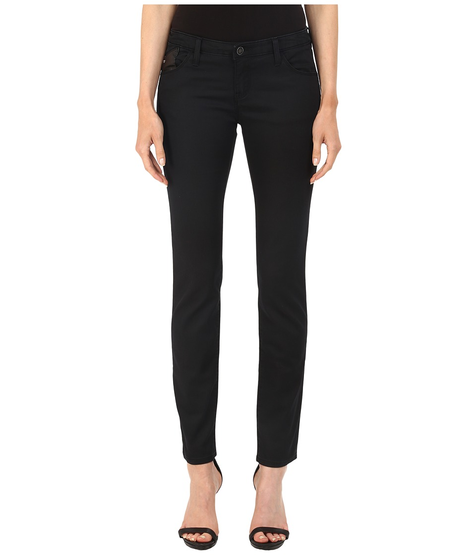Armani Jeans - Blue Black Clean Look Cotton/Poly Jegging Denim 6 (Black Fit J23) Women's Jeans