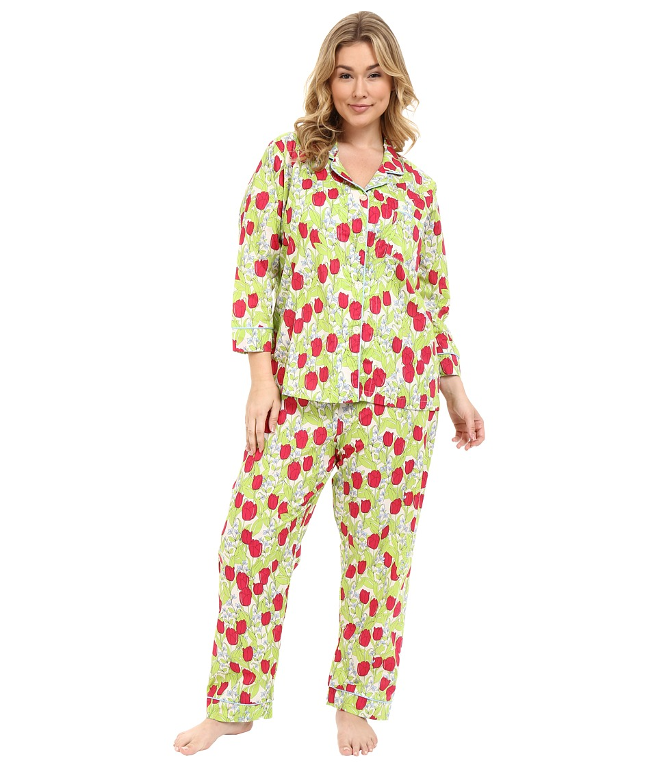 BedHead - Classic Voile PJ's Plus Size (Rouge Holland Tulip) Women's Pajama Sets