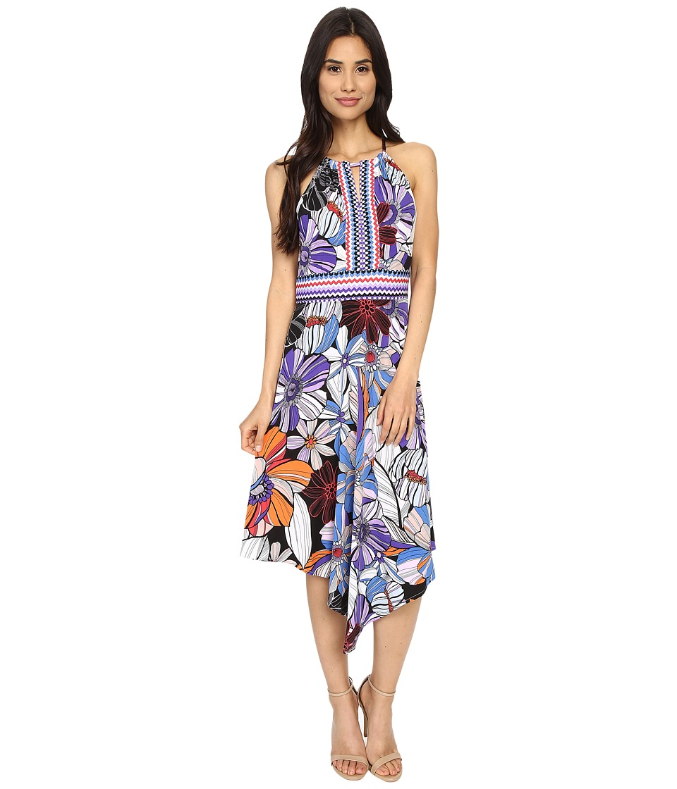 London Times - Pop Art Floral Halter Dress (Multi) Women's Dress