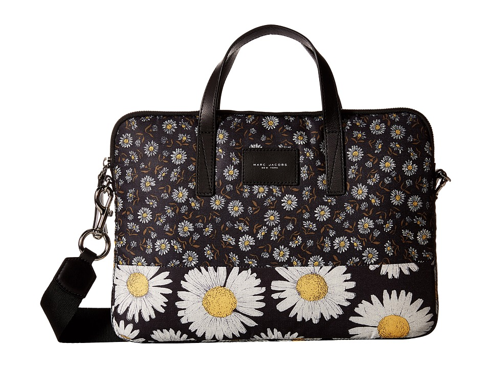 Marc Jacobs - Byot Mixed Daisy Flower Tech 13 Commuter Case (Black Multi) Wallet