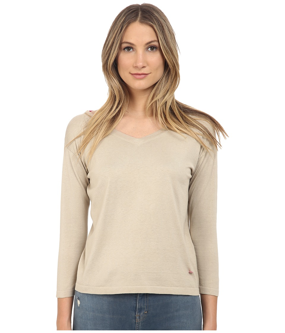 Armani Jeans - Silk Cotton Blended on 14 (Beige) Women's Clothing