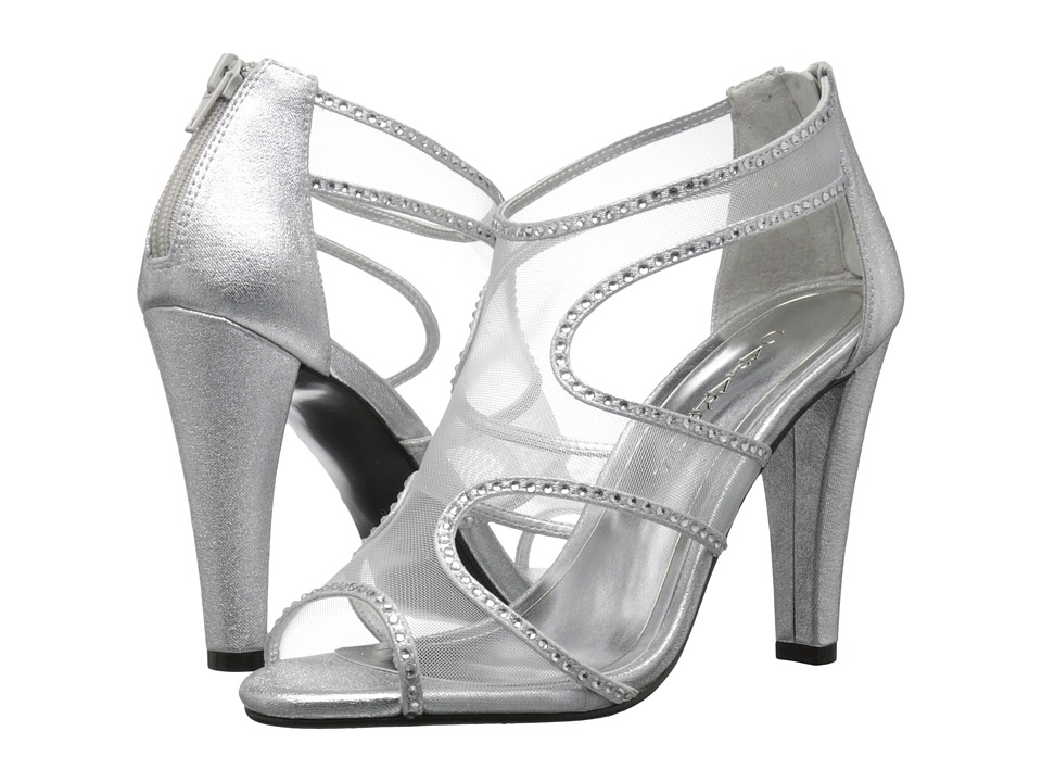 Caparros Desire (Silver Metallic Fabric) High Heels