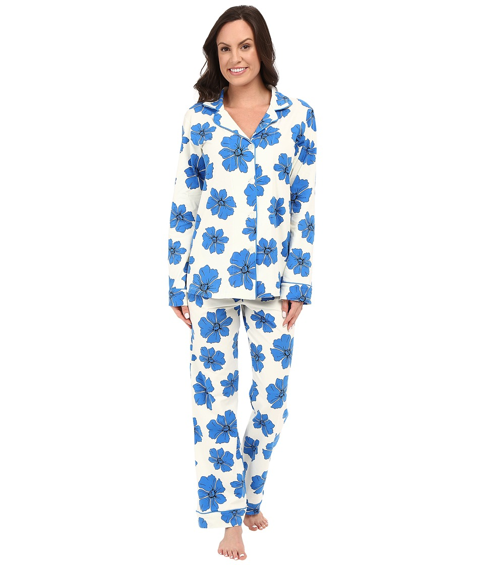 BedHead - Classic Stretch PJ Set (Blue Poppies) Women's Pajama Sets