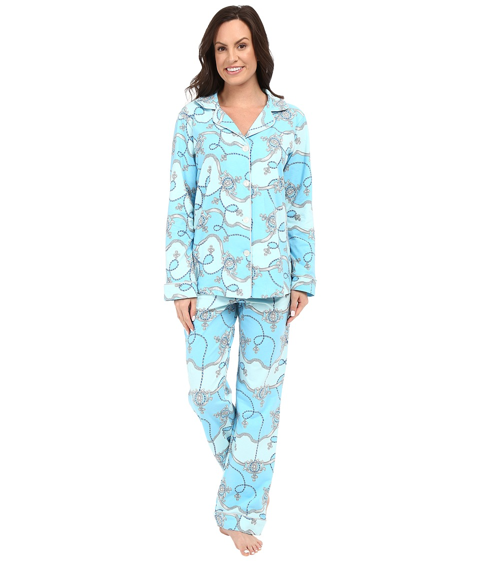 BedHead - Classic Stretch PJ Set (Blue Viceroy) Women's Pajama Sets