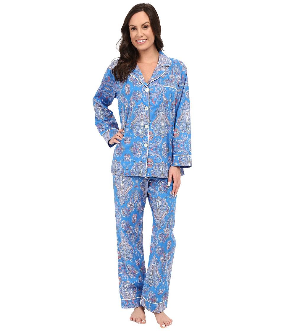 BedHead - Classic Pajamas Voile (Paisley Park Blue) Women's Pajama Sets