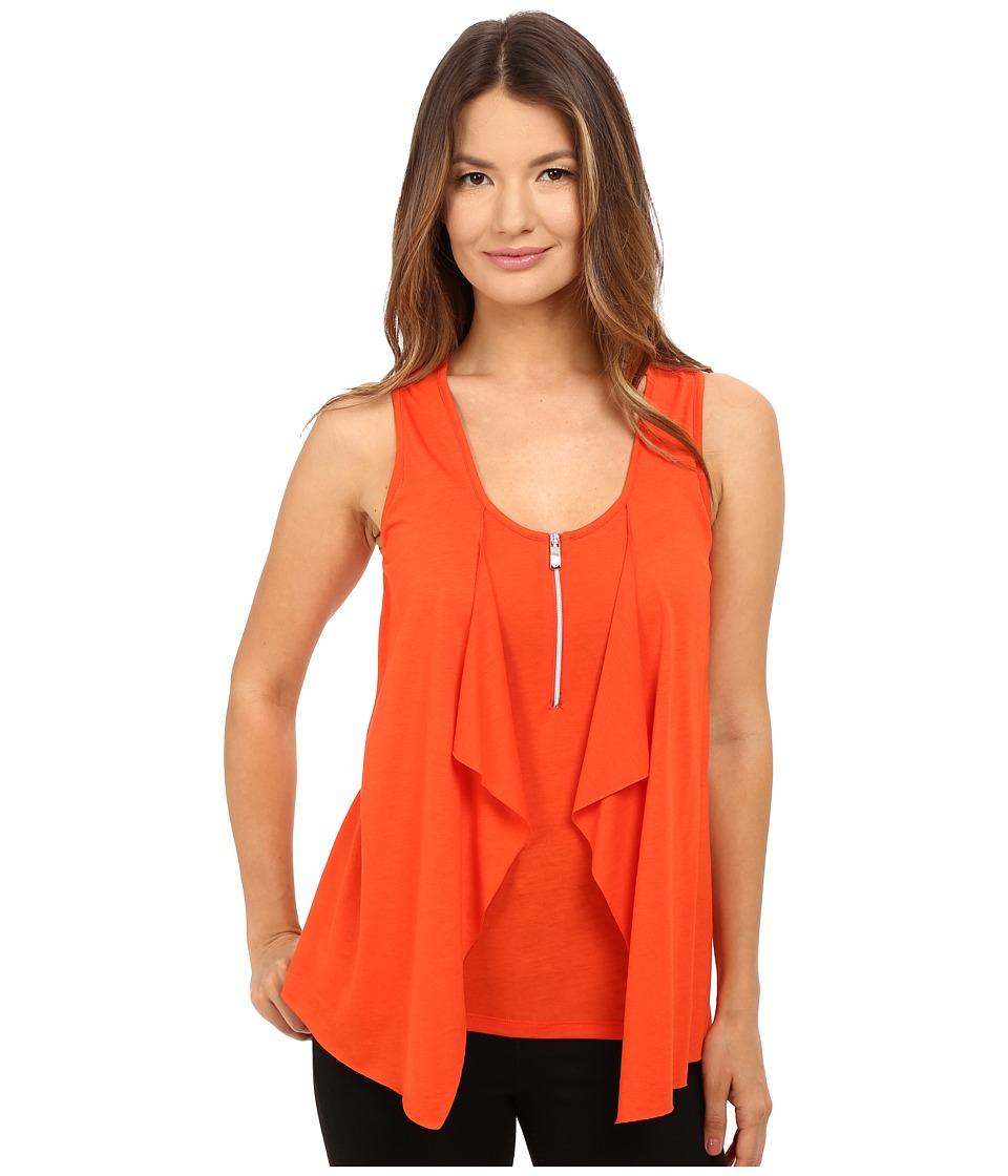 Armani Jeans - Lyocell Cotton Super Fine Jersey T-Shirt (Rosso Arancio) Women's T Shirt