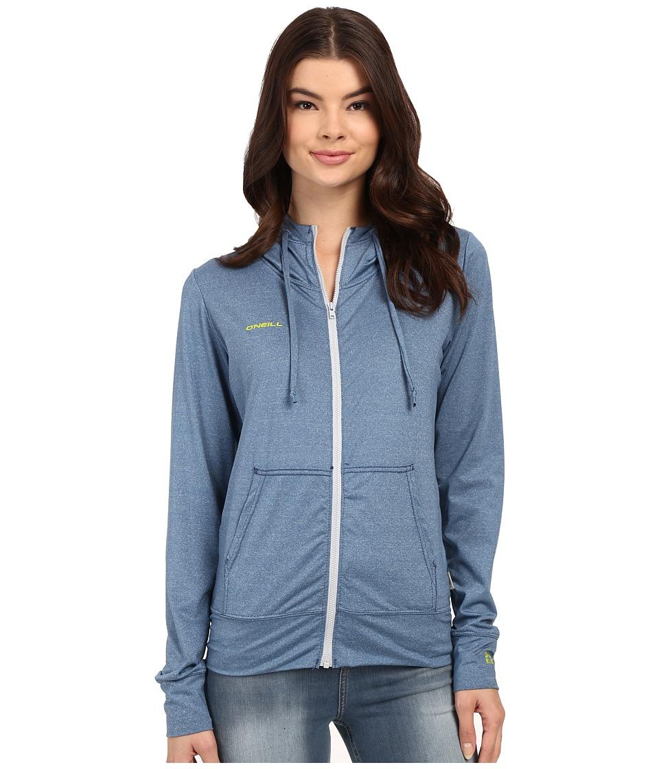 O'Neill - 24-7 Hybrid Zip Hoodie (Deep Teal) Women's Sweatshirt