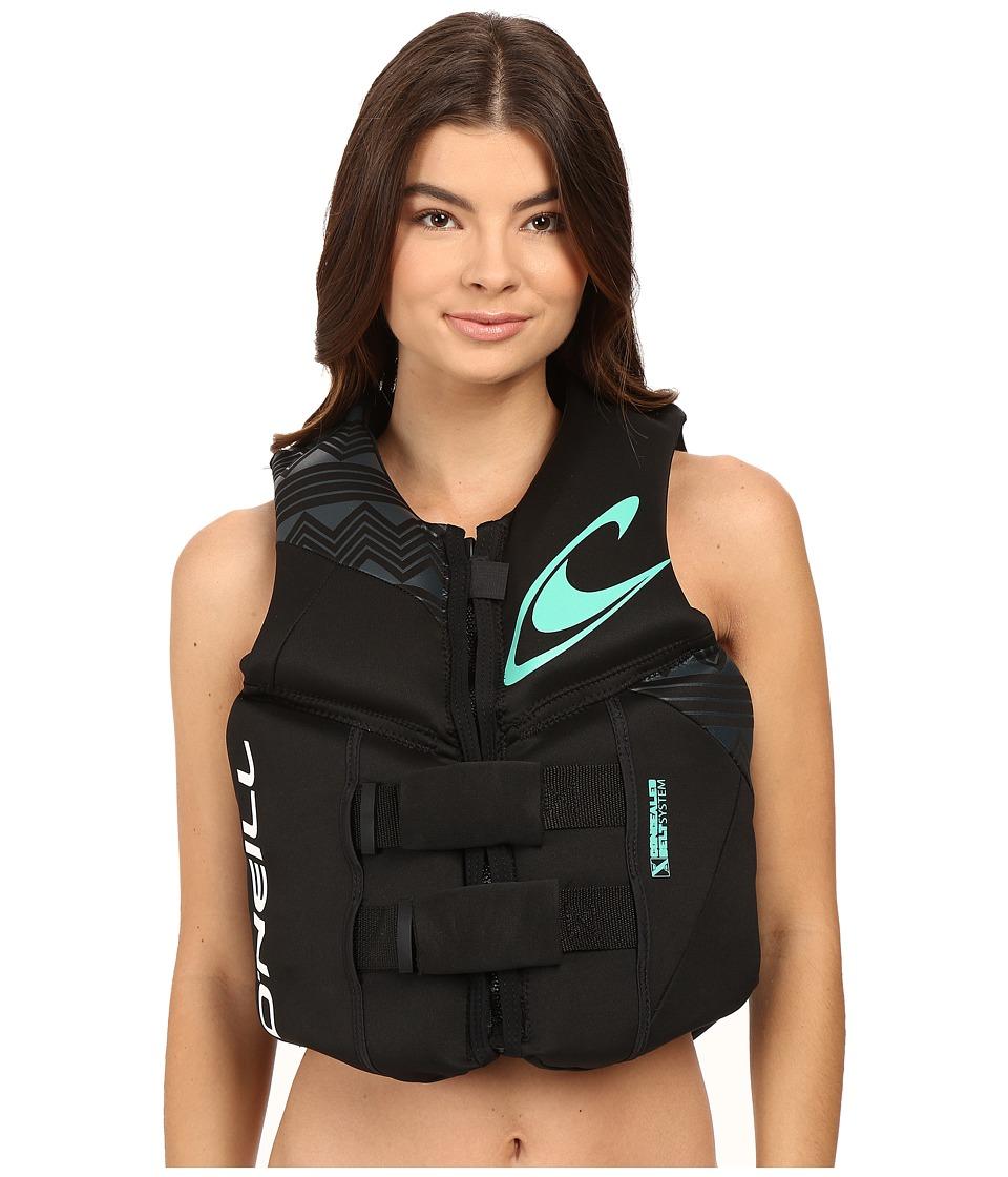 O'Neill - Reactor USCG Vest (Black/Black/Black) Women's Swimwear