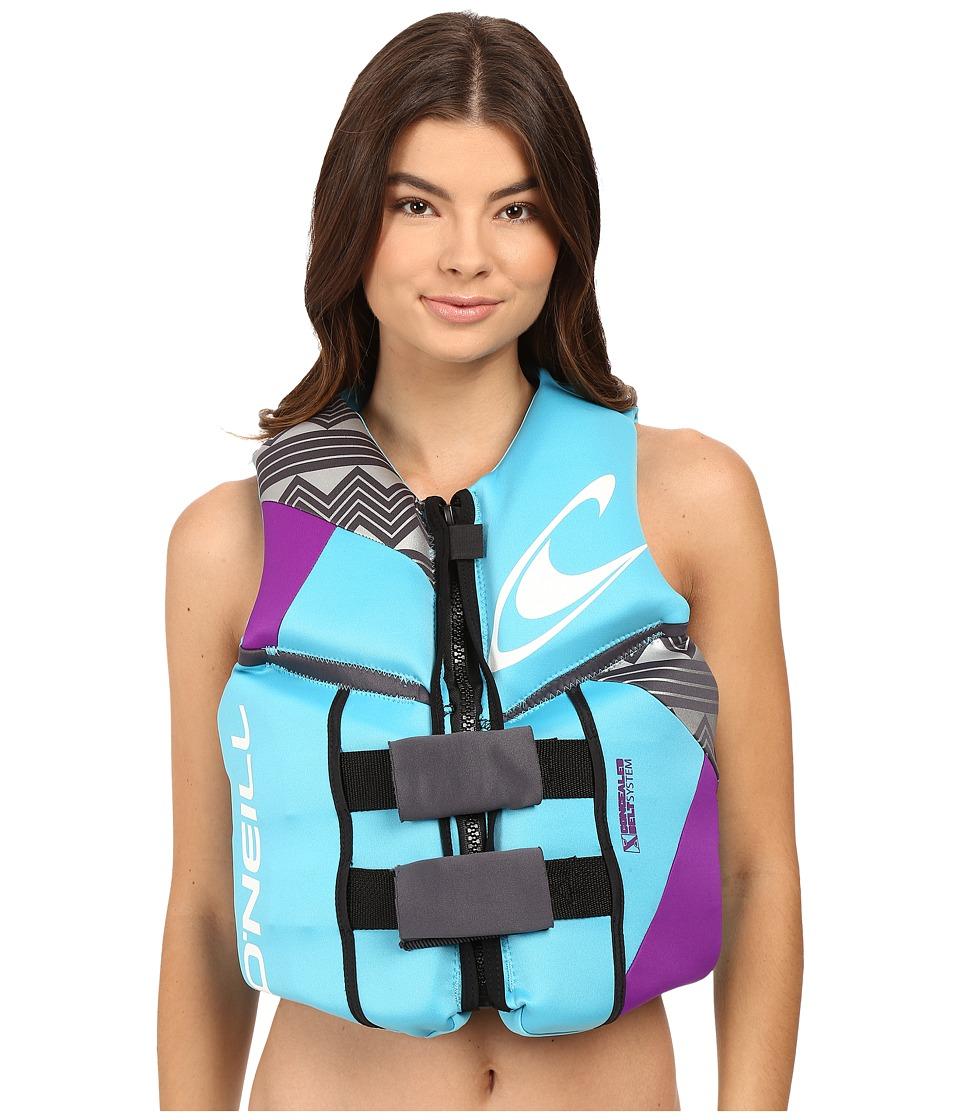 O'Neill - Reactor USCG Vest (Turquoise/UV/Graphite) Women's Swimwear
