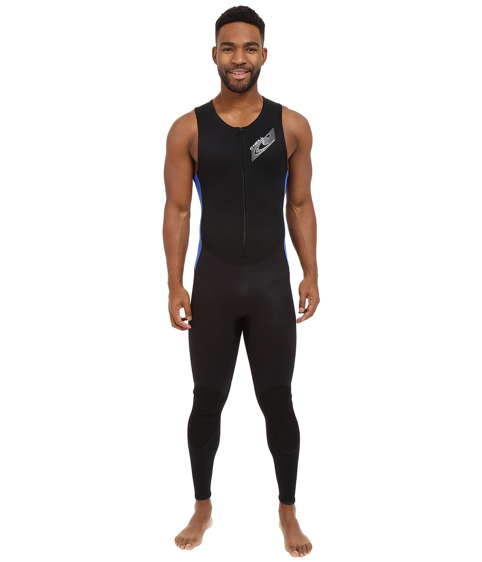 O'Neill - Superlite John (Black/Pacific) Men's Wetsuits One Piece