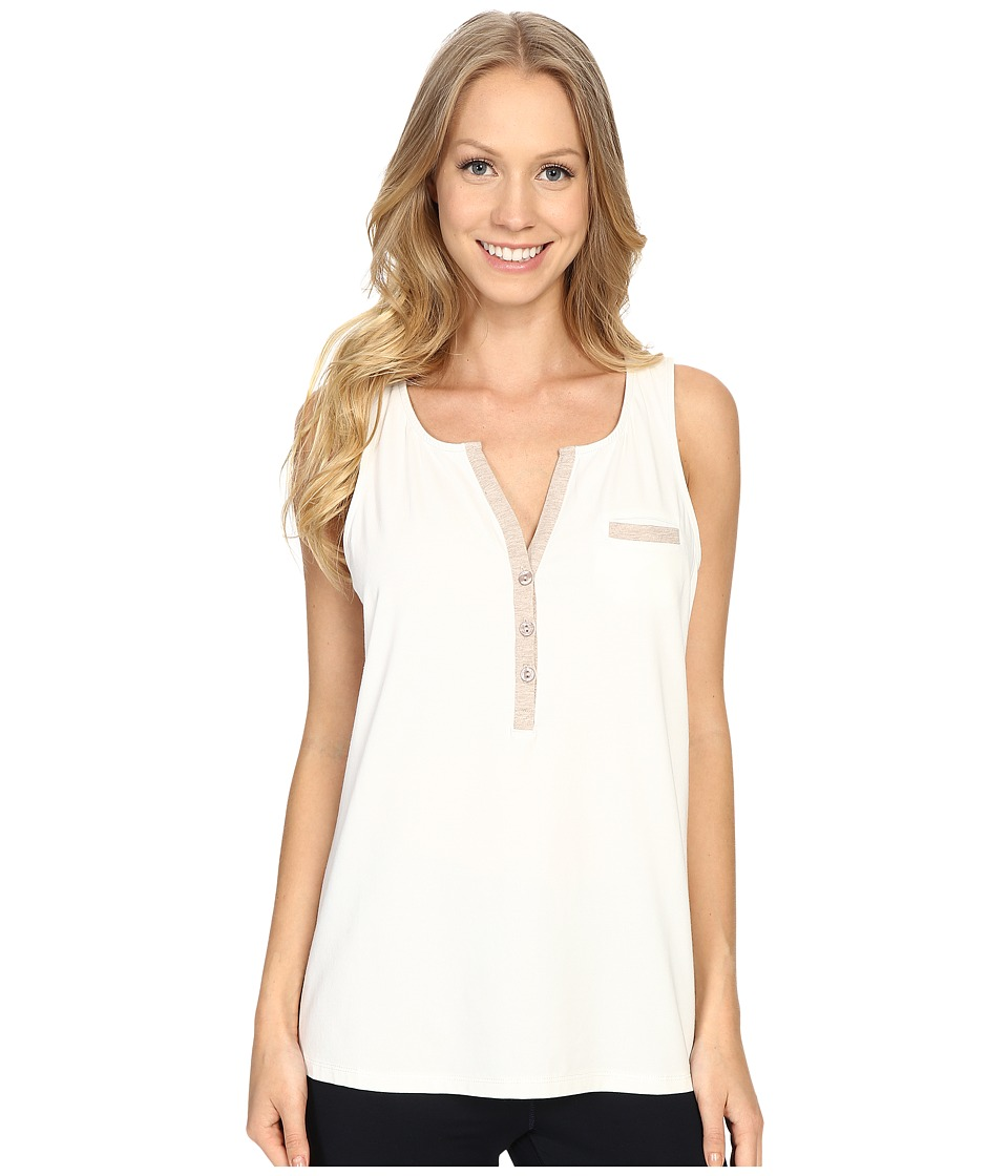 Carole Hochman - Lounge Tank Top (Ivory/Mocha Heather) Women's Pajama