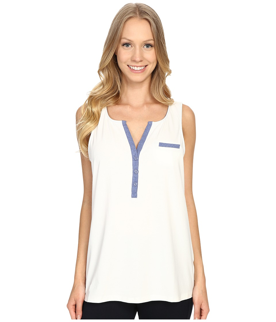 Carole Hochman - Lounge Tank Top (Ivory/Blue Heather) Women's Pajama