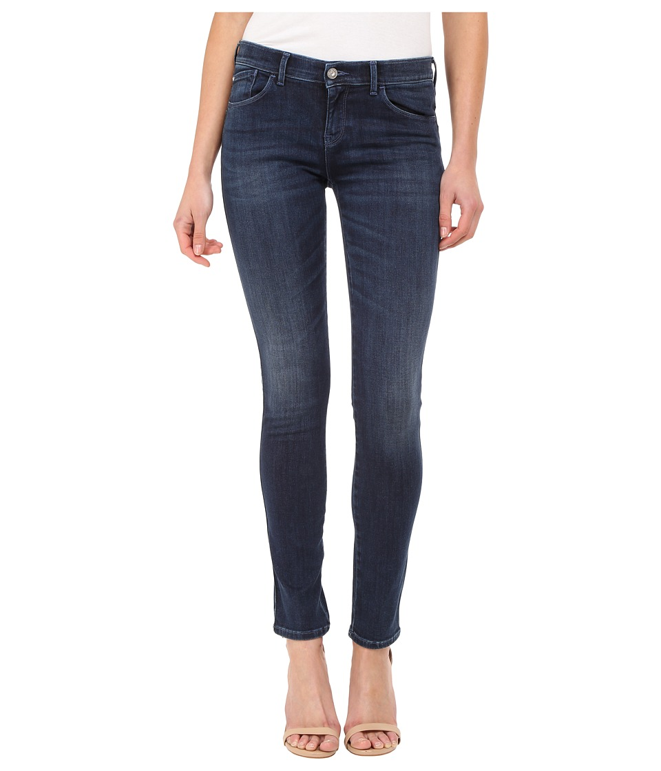 Armani Jeans - Dark Used Blue Black Stretch Denim 11.5 (Denim Fit J23) Women's Jeans