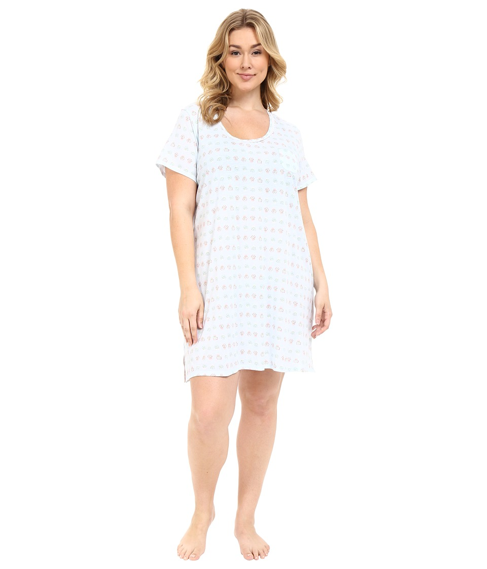 Carole Hochman - Plus Size Key Item Sleepshirt (Garden) Women