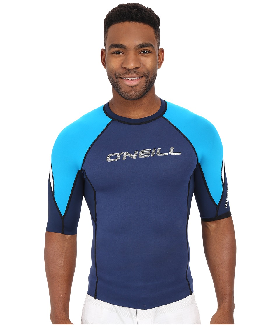 O'Neill - Hammer Short Sleeve Crew (Navy/Sky/White) Men's Swimwear