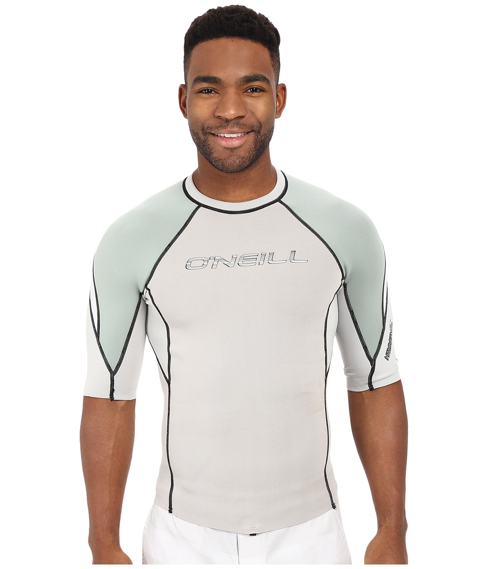 O'Neill - Hammer Short Sleeve Crew (Lunar/Light Olive/White) Men's Swimwear