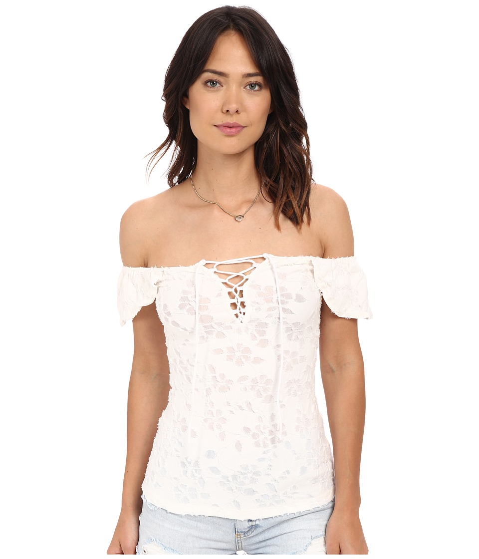 Free People - Popsicle Off the Shoulder Top (Ivory) Women's Blouse