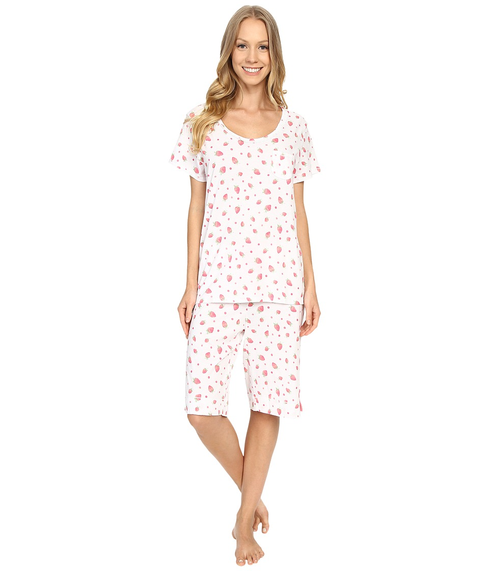 Carole Hochman - Key Item Bermuda Pajama (Strawberries) Women's Pajama Sets